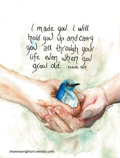 My passion is sharing Bible Promises; birds my favorite subject, watercolor the medium.