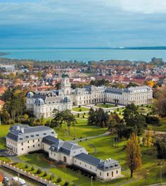 Aerial View of Festetics Castle Keszthely, Hungary Beautiful World, Beautiful Places, Heart Of Europe, Central Europe, Budapest Hungary, Eastern Europe, Aerial View, Countryside, Tours