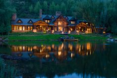 gorgeous log home on a private lake