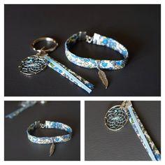 Idée cadeau! Bracelet et bijou de sac  http://www.alittlemarket.com/bracelet/fr_ensemble_bracelet_et_porte_cles_d_inspiration_indienne_-16805663.html