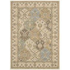 @Overstock.com - Nourison Modesto Beige Area Rug (7'10 x 10'6) - With shades of dusty pink, periwinkle, beige and coffee, this Persian area rug takes its inspiration from rare antique designs and evokes a sense of a storied past while making use of modern day colors.  http://www.overstock.com/Home-Garden/Nourison-Modesto-Beige-Area-Rug-710-x-106/8335504/product.html?CID=214117 $188.99