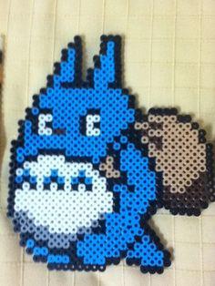 Totoro perler beads by mi ☆ wa