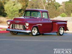 Chevy Pickup Trucks, Gm Trucks, Chevy Pickups, Chevy Stepside, 1955 Chevy, 1955 Chevrolet, Chevrolet Trucks, Classic Trucks Magazine, Trucks Only