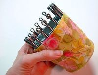 DIY Tin Can Knitting Loom - very inexpensive, and great way to begin kids on needle craft!