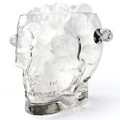 Brainfreeze – Glass Skull Ice Bucket