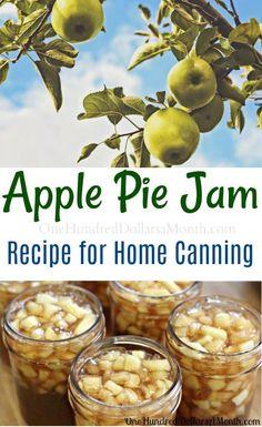 Apfelkuchen-Marmelade Canning 101 – Apple Pie Jam Rezept – Hundert Dollar pro Monat bake apple pie Apple Pie Jam, Making Apple Pie, Apple Jelly, Apple Pie Cheesecake, Apple Sauce, Jelly Recipes, Jam Recipes, Apple Recipes, Cooker Recipes