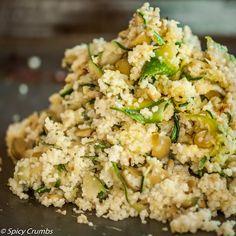 Salát z rozpečené cukety s kuskusem - Spicy Crumbs Fried Rice, Potato Salad, Fries, Salads, Potatoes, Healthy, Ethnic Recipes, Potato, Health