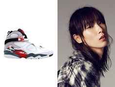 """Dylan Xue - """"The Air Jordan 8 retros are an absolute essential—the most comfortable sneaker ever for running between castings, easy to clean, and my favorite J design."""" Air Jordan 8 Retro Countdown Pack sneakers, $250 fightclub.com"""