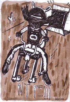 Edard Reza Prima ''wtf'' drawing pen acrylic on paper @2014