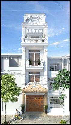 45 Ideas house architecture design classic for 2019 Classic House Design, Simple House Design, Bungalow House Design, House Front Design, Facade Design, Exterior Design, Architecture Design, Classic Architecture, Fachada Colonial