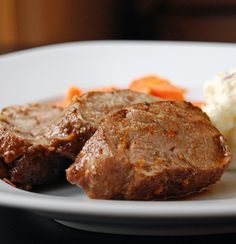 Island Pork Tenderloin-made it tonight pretty yummy Pork Recipes, Cooking Recipes, Pork Dishes, I Love Food, I Foods, Food And Drink, Yummy Food, Favorite Recipes, Stuffed Peppers