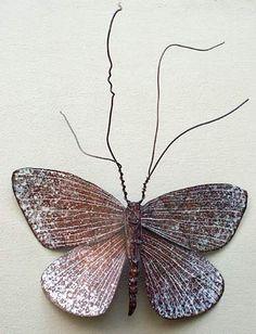 Tenacious Comeback Moth by Kari von Wening metal sculptor