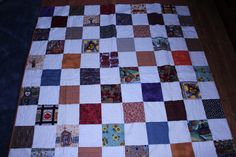 This fall quilt was made for a photographer to use as a Fall Photo Prop. It was made out of scraps of fall colored fabrics. The white, or off white squares have been quilted with a maple leaf pattern. This quilt can be made for you to use and display in your home next fall. I can make it with white squares or off white squares. Please contact me if you would like one of these pretty fall quilts made for you. | Shop this product here: http://spreesy.com/DollyWollySewing/299 | Shop all of our…