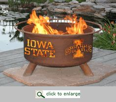 Iowa State Cyclones Logo Fire Pit Ring