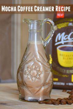 Make your own mocha or vanilla coffee creamer. #McCafeMyWay #ad