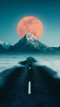 Road to Moon iPhone Wallpaper - iPhone Wallpapers Cute Wallpaper Backgrounds, Aesthetic Iphone Wallpaper, Nature Wallpaper, Galaxy Wallpaper, Cool Wallpaper, Cute Wallpapers, Aesthetic Wallpapers, Iphone Wallpapers, Landscape Photography