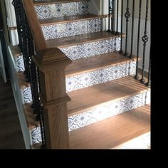 Stair Riser Vinyl Strips Removable Sticker Peel & Stick for 15 steps Tile Decals, Vinyl Decals, Vinyl Wall Tiles, Foyers, Bad Wand, Tile Stickers Kitchen, Wall Waterproofing, Linoleum Flooring, Foyer Flooring