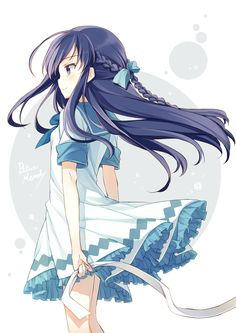 難以名狀的抓圖器 v2:觀看作品:Blue Memory #anime #girl #illustration