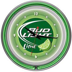 Bud Light Lime 14 Inch Neon Wall Clock