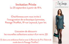 Inauguration de la boutique ChezVanessa.com, la mode des créateurs français , à Lyon !