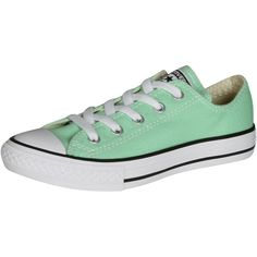 Converse Girls And Women Chuck Taylor Low Top Sneakers Peppermint 11 ($37) ❤ liked on Polyvore featuring shoes, sneakers, low profile sneakers, low profile shoes, converse shoes, converse trainers and low top