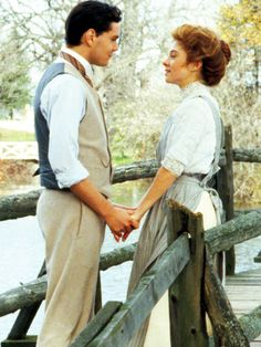 "Anne Shirley & Gilbert Blythe from the Anne of Green Gables series ""I don't want sunbursts or marble halls."" **LOVE Anne of Green Gables! Anne Shirley, Anne Green, Jonathan Crombie, Anne Auf Green Gables, Gilbert And Anne, Gilbert Blythe, Film Serie, Period Dramas, Movies Showing"