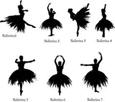 Ballet Prima Ballerina's in long swirly Tutu's Silhouettes (lots of poses) Template/ Stencil/ Mural/ 1. Psssst; The How To Make Wall Paper on My Board: Paint & Painting~ Tips & Tricks