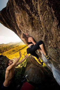 Beautiful , boulders , bouldering is a very significant part of rock climbing as a sport