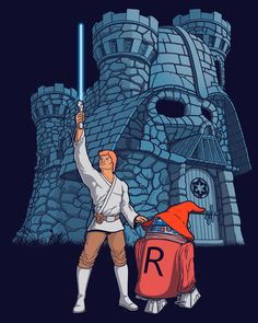 """Darthskull Castle""... How many times we have imagined this mashup?By the power of Darthskull!!... #masteroftheuniverse #parody #greyskull #skywalker #illustration"