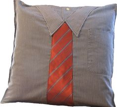 Men's Shirt & Tie Pillow by annespillowdesigns on Etsy, $35.00