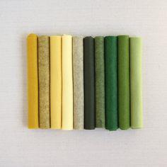Wool blend felt, felt balls and embroidery supplies. Colour Pallete, Colour Schemes, Color Combos, Color Palettes, Felt Succulents, Felt Sheets, Dmc Embroidery Floss, Color Studies, Assemblage