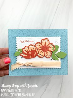 Poppy Cards, Mini Sales, December Holidays, Hand Stamped Cards, Friendship Cards, Paper Crafts, Card Crafts, Diy Cards, Stampin Up Cards