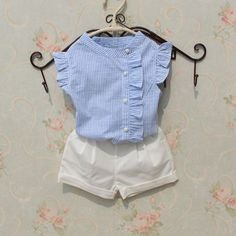 2017 Summer Baby Teenage Child Girls Blouse Striped Cotton Sleeveless Tank Schoo… 2017 Summer Baby Teenage Child Girls Blouse Striped Cotton Sleeveless Tank School Girl Tops And Blouses Shirts For Kids Dresses Kids Girl, Kids Outfits Girls, Shirts For Girls, Baby Outfits, Kids Shirts, Baby Girl Fashion, Fashion Kids, Fashion Dolls, Baby Frocks Designs