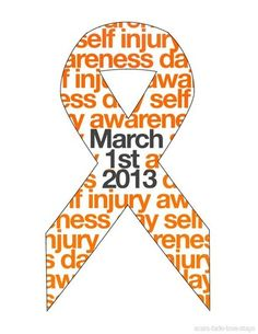 SI Awareness.  Support those who fight it everyday.