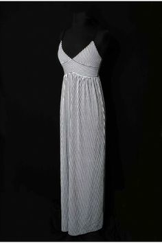 #salediem #fashion #summer  #dress  #blackandwhite Black and white Striped Maxi