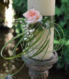 #Vela decorada con #flores