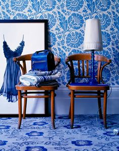 Makes me even more inspired to have a room all in blue.