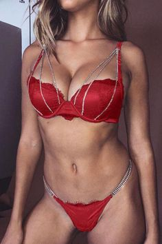 If you're looking for a chain , spaghetti strap lingerie look no further than this! Our sexy lingerie will add an instant style upgrade to your closet. Sexy Lingerie, Lingerie Bonita, Push Up Lingerie, Jolie Lingerie, Lingerie Outfits, Pretty Lingerie, Sexy Outfits, Bodysuit Lingerie, Lace Bodysuit