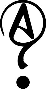 Symbol of Agnosticism. Not widely used yet, but I prefer it as it is easily distinguished from atheist symbols. https://en.wikipedia.org/wiki/Agnosticism #Agnostic #Agnosticism