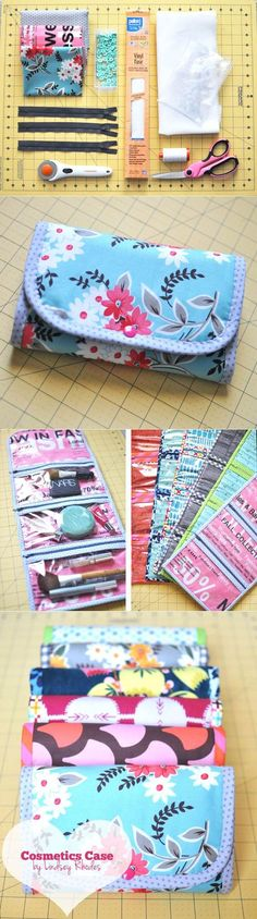 Make up your own makeup bag! It'll keep all of your beauty supplies in tip top shape!