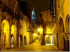 Spain - Santiago de Compostela - The City Centre Next Holiday, Spain And Portugal, Most Beautiful Cities, Pilgrimage, Places To See, Just In Case, Travel Inspiration, World, Saint James