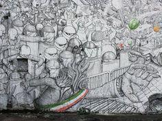 Risultati immagini per blu street art bolo