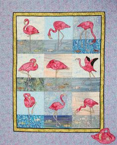 Gigging for Frogs  Flamingo Applique Quilt Pattern by dashton4, $15.95