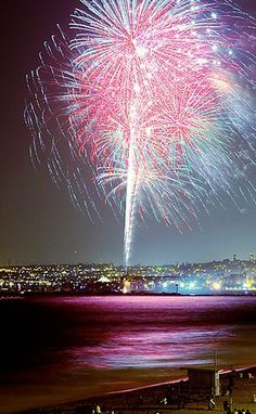 Redondo Beach- July 4th on the Fountain's rooftop deck.  Nothing like it.