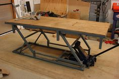 My fabrication shop. - Page 12 - The Garage Journal Board Garage Tools, Garage Shop, Garage House, Garage Workshop, Metal Projects, Welding Projects, Motorcycle Workshop, Motorcycle Garage, Lift Table