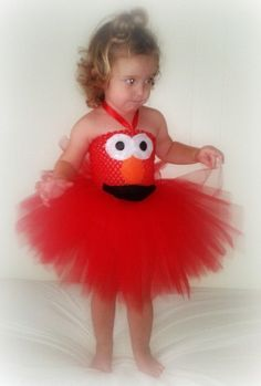 Elmo Costume Tutu Dress by RaspberryStBoutique on Etsy https://www.etsy.com/listing/109807217/elmo-costume-tutu-dress