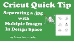 Cricut Design Space - Separating a Jpg with Multiple Images