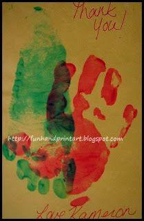 Handprint Thank You Card