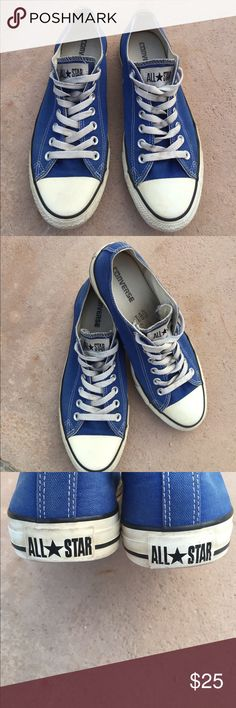 Converse All Star Royal Blue Women's Size 11/Men's Size 9. Preowned and plenty of use left in these. No holes and minor pulling around rubber trim as shown in photo. Converse Shoes Sneakers