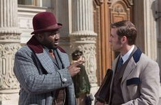 Nonso Anozie and Oliver Jackson-Cohen in Dracula Dracula 2013, Dracula Nbc, Tv Series 2013, New Tv Series, Man Photo, Picture Photo, Dracula Tv Series, Oliver Jackson Cohen, 19th Century London